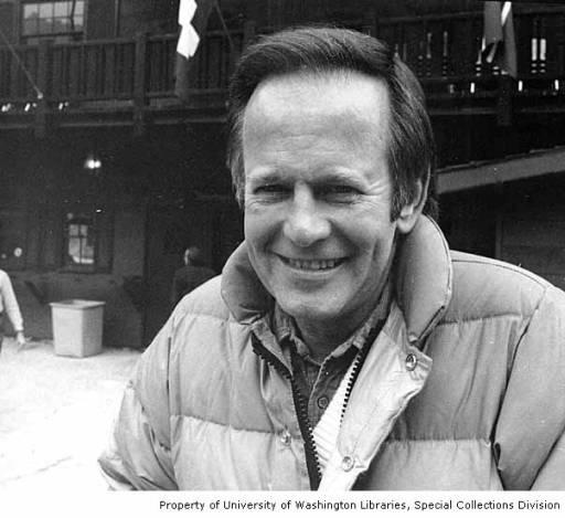 Representative Brock Adams at the dedication of the Alpine Lakes Wilderness Area in Wenatchee, Washington, October 23, 1976