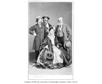 Joseph H. Cowell, Kate Bateman, J.W. Wallack, Jr., and Edwin Adams in costume