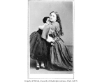 Kate Bateman in the role of Leah, with child actress, in a production of LEAH, THE FORSAKEN