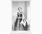 Adelaide Ristori in the role of Queen Elizabeth from a production of the play ELIZABETH, QUEEN OF...