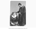 Adelaide Ristori in the role of Mary Stuart, with unidentified actor, from a production of the...