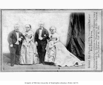 General Tom Thumb, Lavinia Stratton, Commodore Nutt, and Minnie Warren
