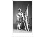 Fanny Brown in costume with American flag