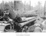 Loading a log truck, probably in Jefferson County
