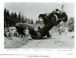 Log truck after an accident in or near Port Angeles