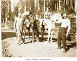 Men with horses, probably on the Olympic Peninsula
