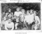 Young women and girls on the Olympic Peninsula, including Merchant family girls