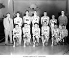 Forks High School boys basketball team, ca. 1955