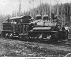 Merrill and Ring Logging company Shay locomotive, probably in Clallam County