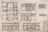 Arctic Club Building (Seattle, Wash.), elevation, plan and details of bar room
