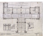 Henry Building (Seattle, Wash.), interior details and plans of vestibule, elevators and stair halls