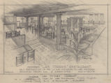 Las Torres Restaurant for Doubletree Inns (Tucson, Ariz.), perspective drawing