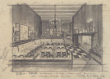 Dublin House Restaurant (Seattle, Wash.), perspective drawing of dining room