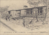 Mr. and Mrs. William Blethen residence (Seattle, Wash.), perspective drawing