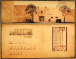 J. Emil Anderson student drawing of a suburban bank