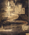 Andrew Oien student drawing of a monastery