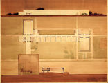 Bjarne Carl Olsen student drawing of an elementary school with athletic facilities