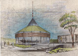 Century 21 Exposition (Seattle, Wash.), proposed building for the Seattle-First National Bank,...