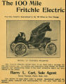 100-Mile Fritchle Electric Automobile (1908)