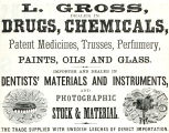 L. Gross, Dealer in Drugs and Chemicals (1867)