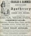 Charles S. Hammer, Druggist and Apothecary (1867)