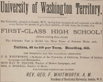 High School at the Territorial University of Washington (1876)