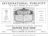 Rainier Pale Beer (1914)