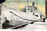 Ice-covered steamer SANTA CLARA at dock, Juneau,  1906