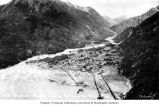 Bird's-eye view of Skagway wharves and buildings, looking north up the White Pass, n.d.