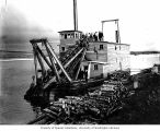 Probably DeSoto Mining Company's dredger on the Fish River at White Mountain, ca. 1903