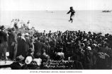 Nalakatuk, or, blanket toss using a walrus skin trampoline, Nome, ca. 1918