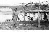 Athapascan woman drying salmon, Chitina, n.d.