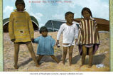 Eskimo children on the beach, location unknown, ca. 1904