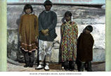 Chief of Little Diomede Island and his family, Little Diomede, ca. 1904