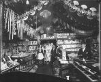 Interior holiday display of Jimmy's Place, Dawson, Yukon Territory, n.d.