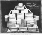 Gold bars stacked in a pyramid, Dawson,  n.d.