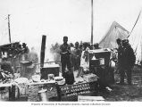Fire fighters assembling for breakfast at a tent encampment, Avery, Idaho, August 1910