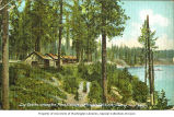 Log Cabins at Hayden Lake, near Coeur d'Alene, Idaho, ca. 1910