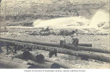 Placer mining operation showing hydraulic sluicing near Boise, Idaho, 1912