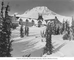 Timberline Lodge under construction on Mount Hood, Oregon, 1937