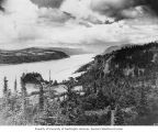 Columbia River Gorge and Crown Point along the Historic Columbia River Highway, ca. 1930s-1960s