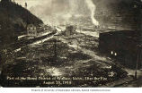 Bird's-eye view of the ruins of Wallace, Idaho, after the fire of 1910