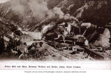 Frisco Mill and Mine located between Wallace and Burke, Idaho in the Coeur d'Alene mining region,...
