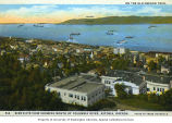 Birds-eye view of the waterfront on the Columbia River at Astoria, Oregon, ca. 1932