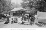 Family car camping at Lithia Park, Ashland, Oregon, ca. 1921