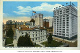 Bird's-eye view of Post Office with Hotel Portland and American Bank Building in the background,...