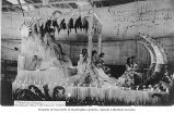 'Queen of Beauty' float at the Rose Festival Parade, Portland, Oregon, 1909