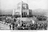 Dedication ceremony for Vista House, Crown Point,  Oregon, ca. 1919