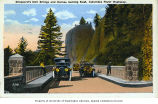 Visitors at Shepperd's Dell Bridge on the Columbia River Highway, near Bridal Veil, Oregon, ca....