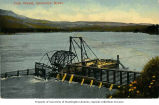Salmon fish wheel on the Columbia River, Oregon, ca. 1910